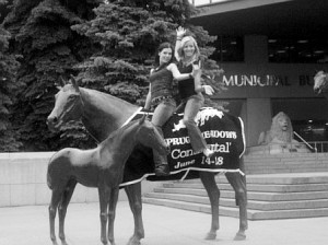 Riddle took them to City Hall's horses